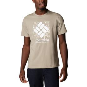 Columbia Rapid Ridge Graphic Tee Men, grijs/wit